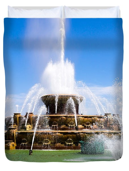 Chicago Buckingham Fountain Duvet Cover by Paul Velgos