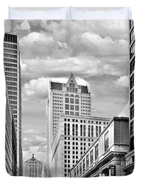 Chicago Lasalle Street Duvet Cover by Christine Till