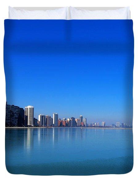 Chicago Skyline Duvet Cover by Paul Ge