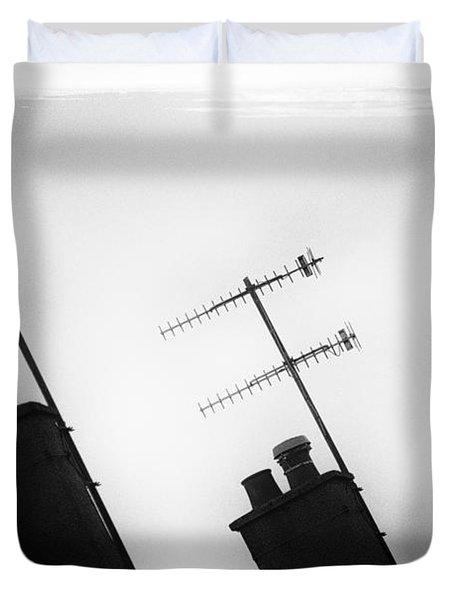 Chimneys Duvet Cover by David Ridley