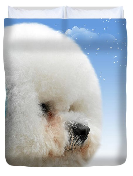 China's latest craze - Dyeing pets Duvet Cover by Christine Till