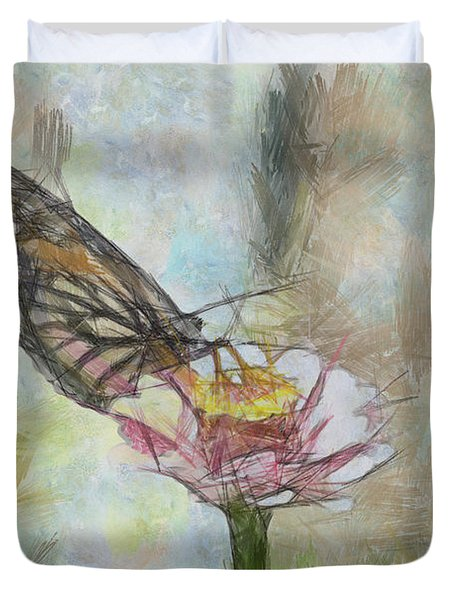 Chinese Butterfly Duvet Cover by Trish Tritz