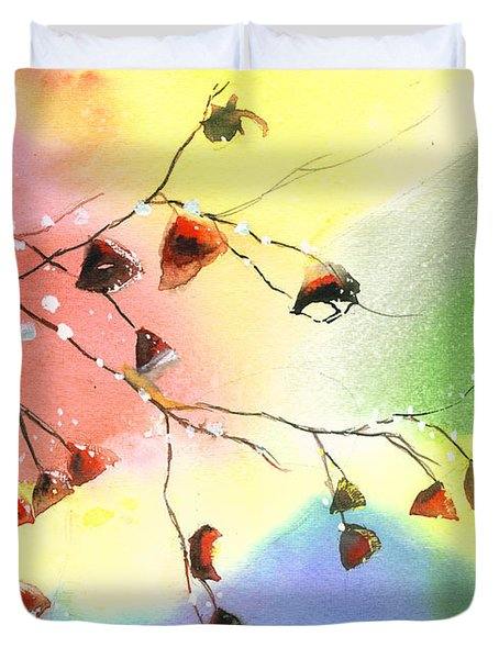 Christmas 1 Duvet Cover by Anil Nene