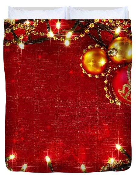 Christmas Frame Duvet Cover by Carlos Caetano