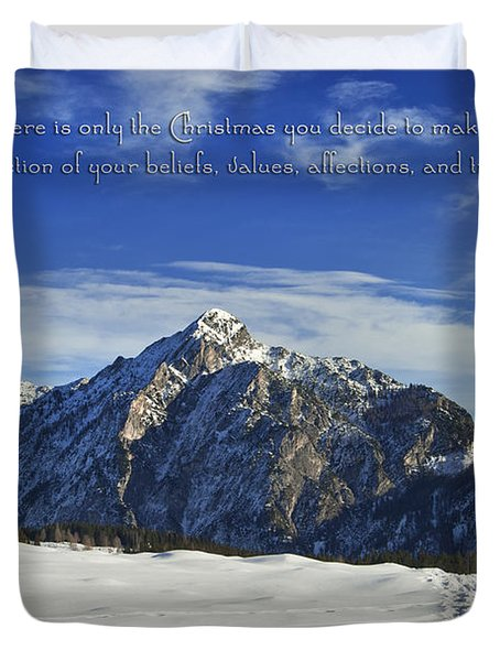 Christmas In Austria Europe Duvet Cover by Sabine Jacobs