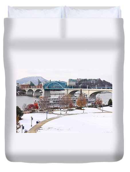 Christmas Snow Duvet Cover by Tom and Pat Cory