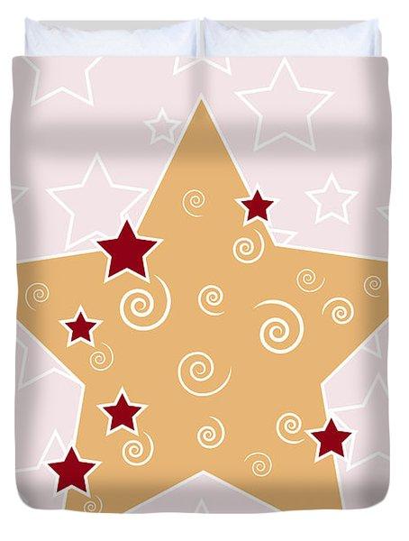 Christmas Star Duvet Cover by Frank Tschakert