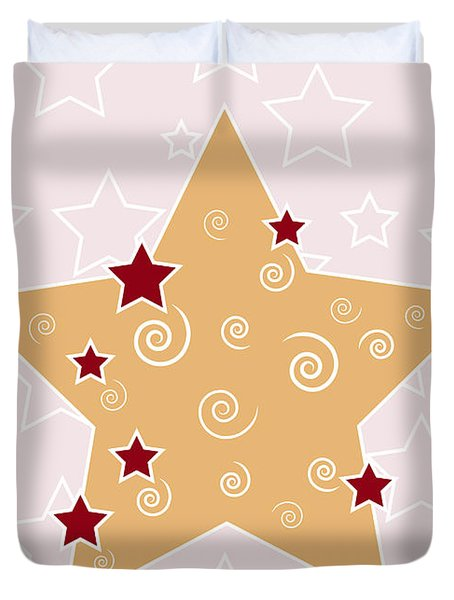 Christmas Star Duvet Cover by Frank Tschakert
