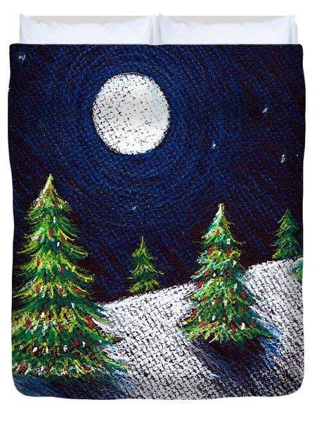 Christmas Trees II Duvet Cover by Nancy Mueller