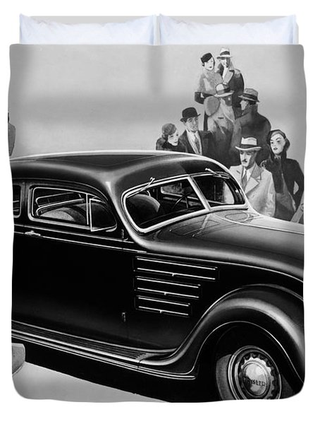 Chrysler Airflow Duvet Cover by Photo Researchers