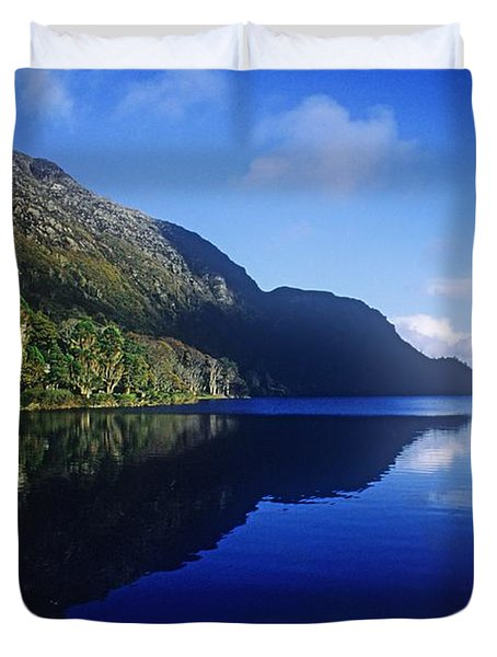 Church At The Waterfront, Kylemore Duvet Cover by The Irish Image Collection