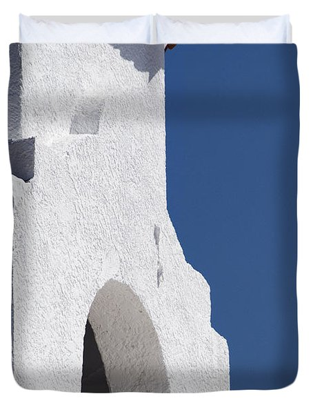 Church Bell Tower Chacras De Coria Duvet Cover by Philippe Widling
