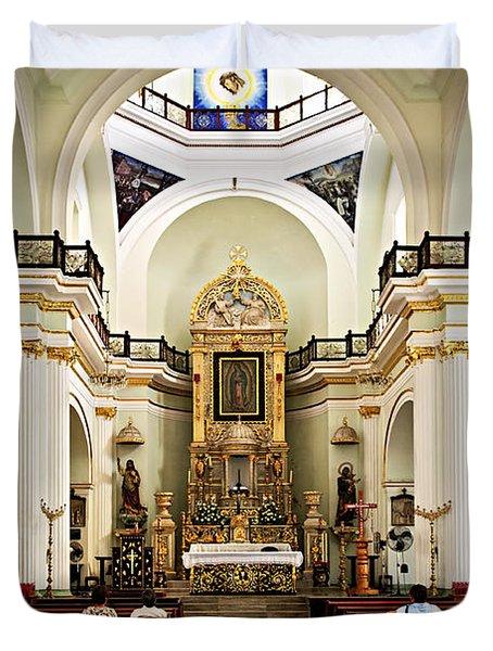 Church interior in Puerto Vallarta Duvet Cover by Elena Elisseeva