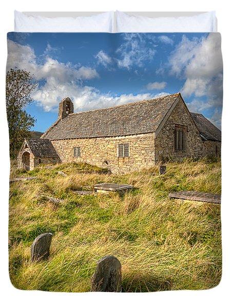 Church Of Celynnin Duvet Cover by Adrian Evans