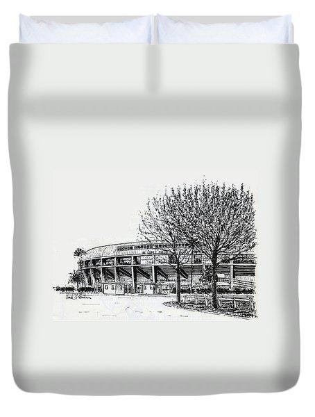 Cincinnati Reds/al Lopez Stadium Tampa Florida Duvet Cover by Frank Hunter