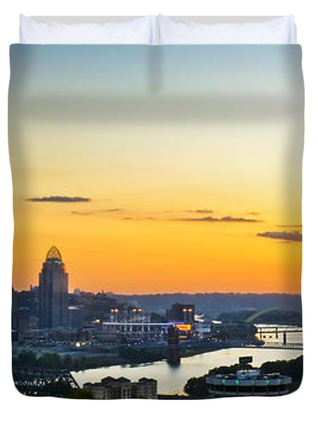 Cincinnati Sunrise II Duvet Cover by Keith Allen