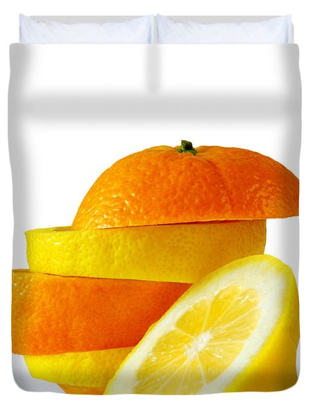 Citrus Slices Duvet Cover by Carlos Caetano