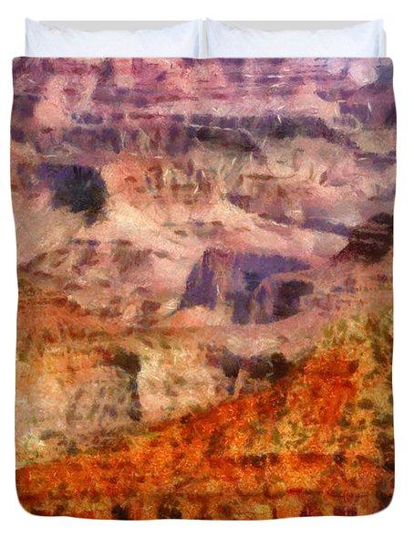 City - Arizona - Grand Canyon - Kabob Trail Duvet Cover by Mike Savad