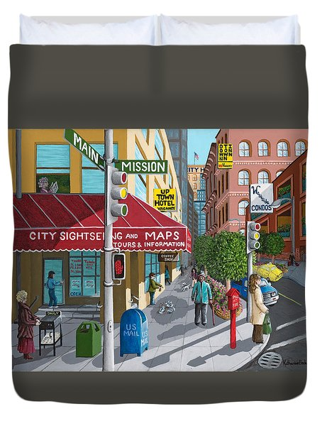 City Corner Duvet Cover by Katherine Young-Beck
