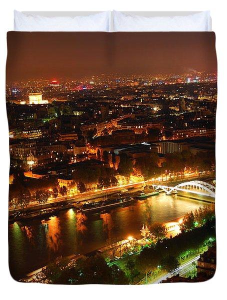 City Of Light Duvet Cover by Elena Elisseeva