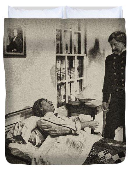 Civil War Hospital Duvet Cover by Bill Cannon