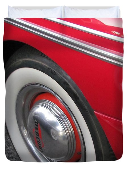 Classic Car Mercury Red 1 Duvet Cover by Anita Burgermeister