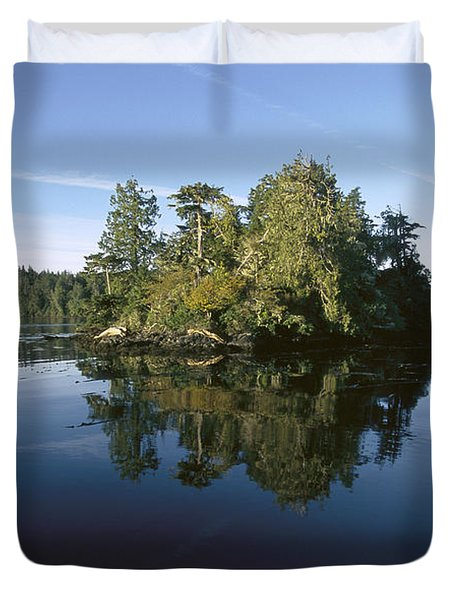 Clayoquot Sound Vancouver Island Duvet Cover by Flip Nicklin