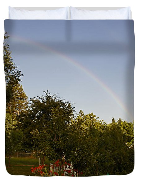 Clear Sky Rainbow Duvet Cover by Mick Anderson