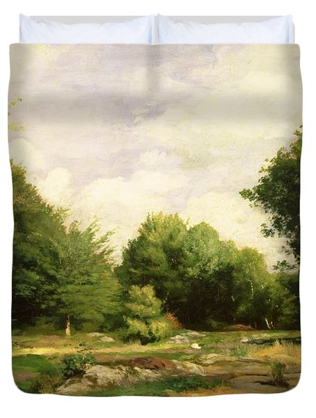 Clearing In The Woods Duvet Cover by Pierre Auguste Renoir
