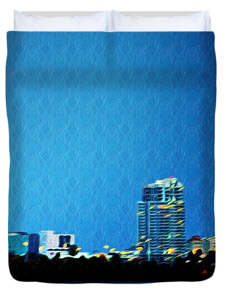 Clearwater at Night Duvet Cover by Bill Cannon