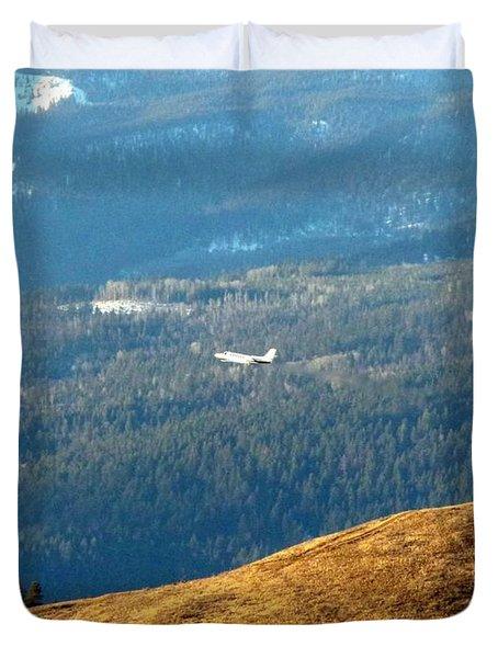 Climbing Skyward Duvet Cover by Will Borden
