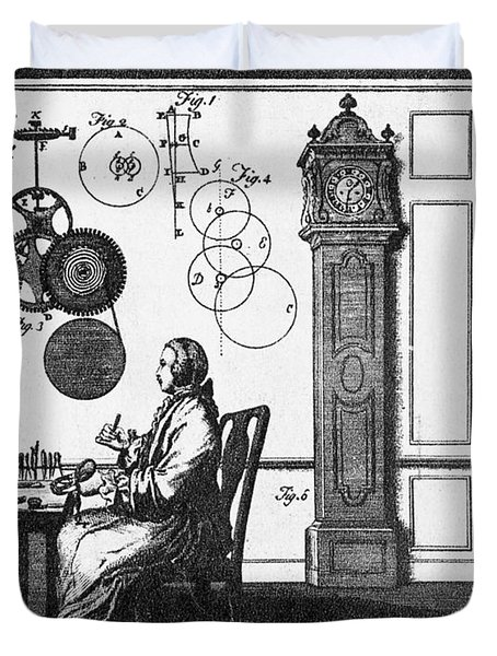 Clockmaker Duvet Cover by Science Source