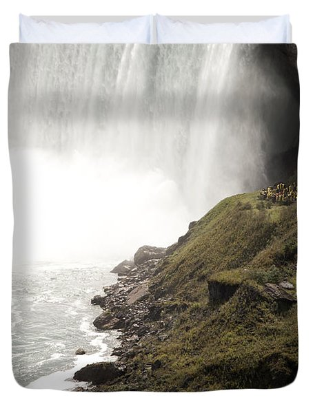 Close To The Falls Duvet Cover by Amanda Barcon