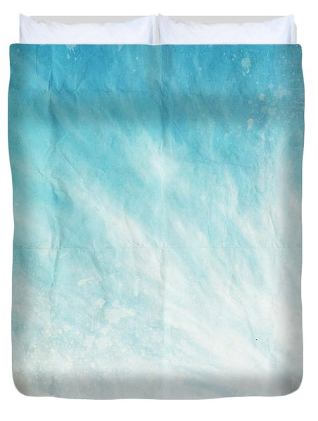 cloud and blue sky on old grunge paper Duvet Cover by Setsiri Silapasuwanchai