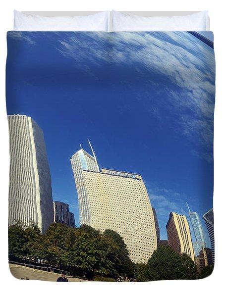 Cloud Gate Millenium Park Chicago Duvet Cover by Christine Till