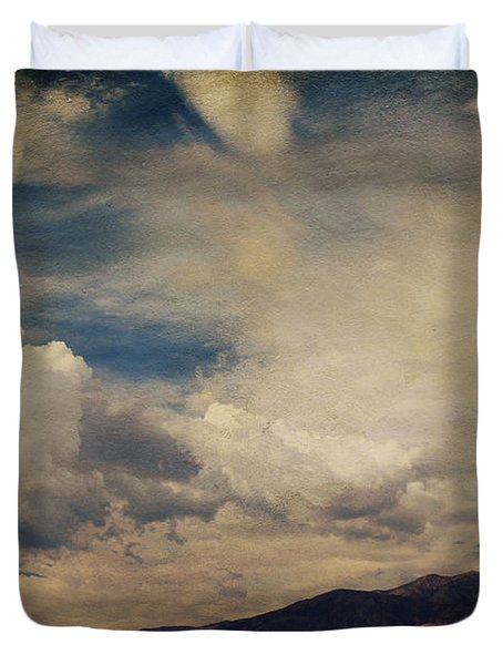 Clouds Please Carry Me Away Duvet Cover by Laurie Search