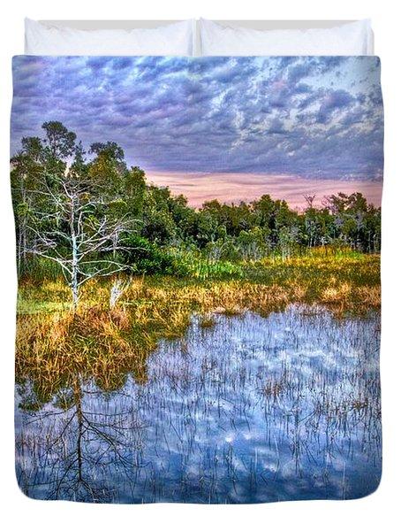 Clouds Underwater Duvet Cover by Debra and Dave Vanderlaan