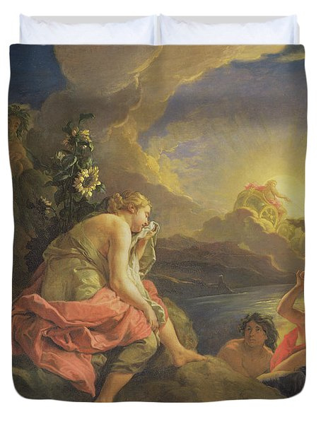 Clytie Transformed Into A Sunflower Duvet Cover by Charles de Lafosse
