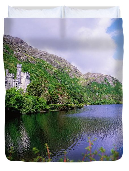 Co Galway, Ireland, Kylemore Abbey Duvet Cover by The Irish Image Collection