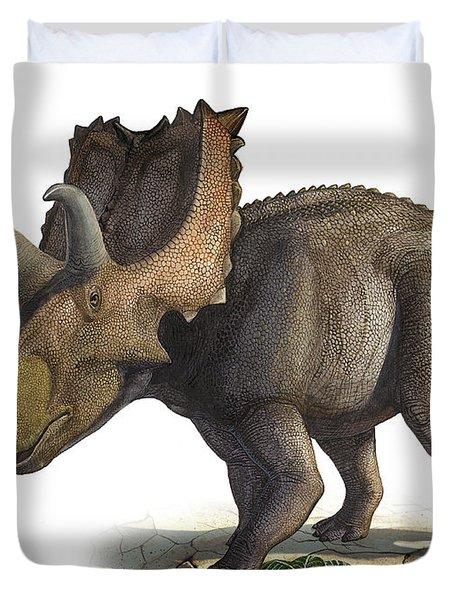 Coahuilaceratops Magnacuerna Duvet Cover by Sergey Krasovskiy