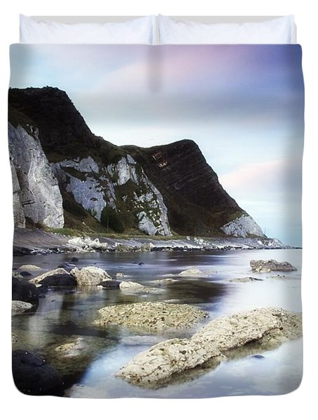 Coast Between Carnlough & Waterfoot, Co Duvet Cover by The Irish Image Collection