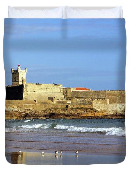 Coastal Defense Duvet Cover by Carlos Caetano