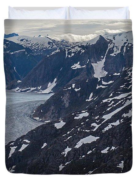 Coastal Range Awakening Duvet Cover by Mike Reid