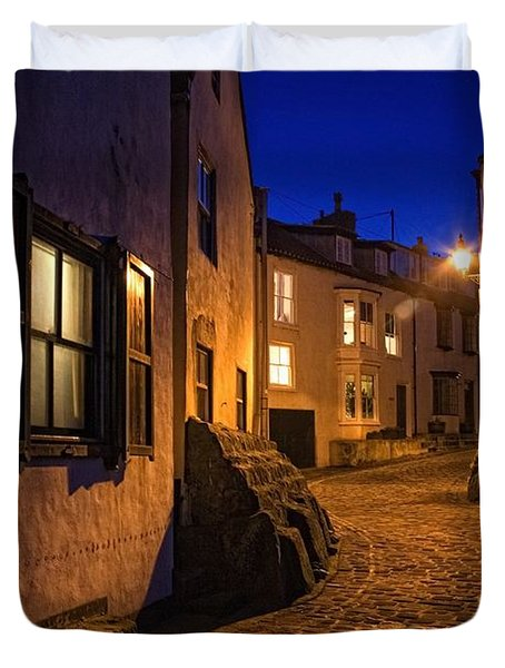 Cobblestone Road, North Yorkshire Duvet Cover by John Short