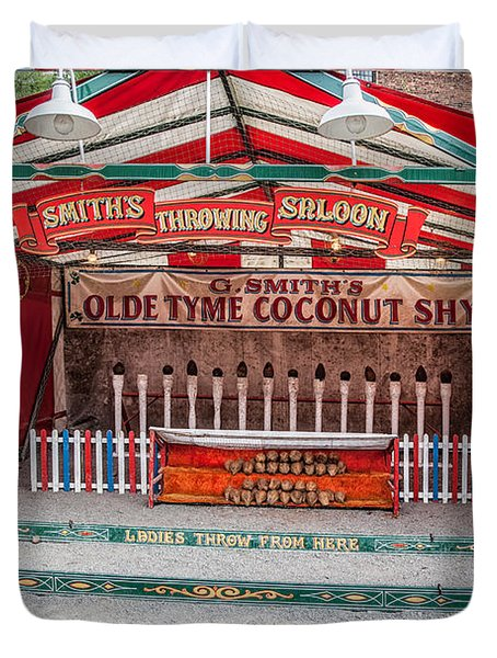 Coconut Shy Duvet Cover by Adrian Evans