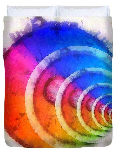 Code Of Colors 8 Duvet Cover by Angelina Vick