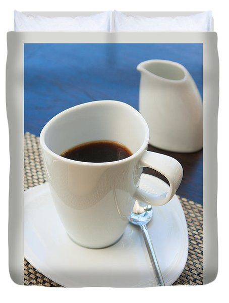 Coffee Sir Duvet Cover by Atiketta Sangasaeng