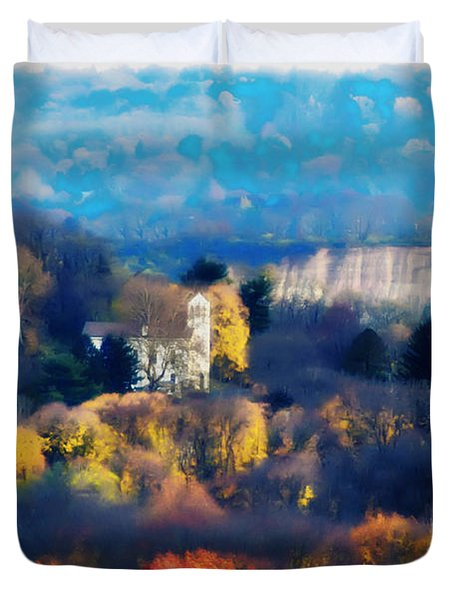 Cold Point Baptist Church Duvet Cover by Bill Cannon