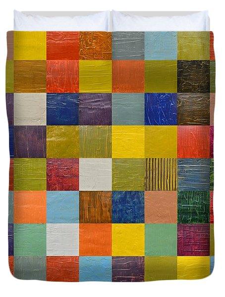 Collage Color Study 108 Duvet Cover by Michelle Calkins