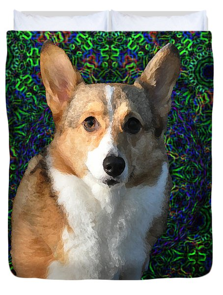 Collie Duvet Cover by Bill Cannon